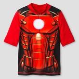 Iron Man Boys' Rashguard - Red
