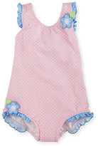 Florence Eiseman Polka-Dot One-Piece Swimsuit, Pink, Size 6-24 Months