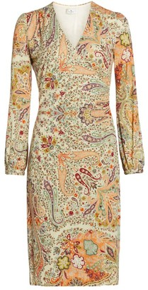 Etro Paisley Jersey Wrap Dress