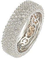 LeVian Suzy Women's Rings White - Cubic Zirconia & Sterling Silver Pave Eternity Band