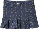 Little Marc Jacobs Grey Leopard Print Denim Skirt