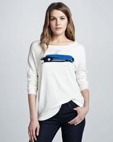 Joie Eloisa Car-Print Sweater