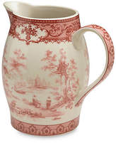 One Kings Lane Chinoiserie Lake Decorative Pitcher - Red - Large