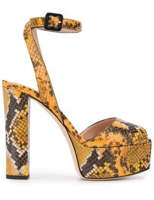 Giuseppe Zanotti Snakeskin Print Sandals