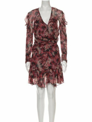 IRO Floral Print Knee-Length Dress w/ Tags Pink