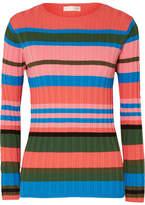 Stine Goya Leonor Striped Ribbed-knit Sweater - Blue