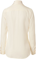 Moschino Silk Tie Neck Blouse