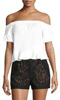 BCBGMAXAZRIA Ruffled Off-The-Shoulder Blouse