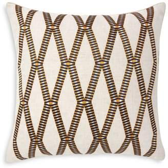 "Yves Delorme Mahjong Decorative Pillow, 18"" x 18"""