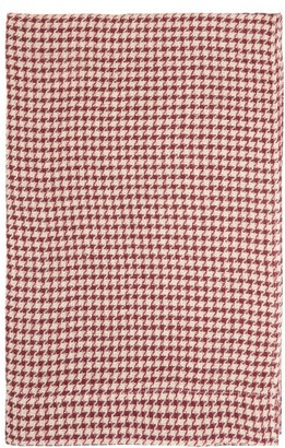 Once Milano - Houndstooth Linen Table Runner - Red Multi