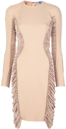 Thierry Mugler Ruched Panel Midi Dress