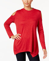 Style&Co. Style & Co Metallic Cold-Shoulder Top, Only at Macy's