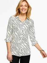 Talbots Long Drapey Shirt - Climbing Vines