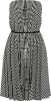 Moschino Cheap and Chic Strapless plaid wool-blend dress