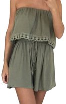 Shinekoo® Women Off-shoulder Strapless Sleevelss Playsuit Ladies Casual Jumpsuit