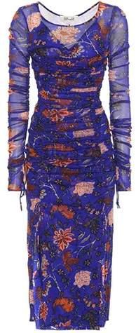 Diane von Furstenberg Floral-printed mesh dress