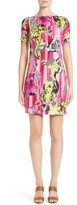 Versace Women's Print Jersey Cold Shoulder Dress