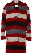 Etoile Isabel Marant Gabrie blanket-striped coat