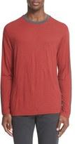 Armani Collezioni Men's Colorblock Long Sleeve T-Shirt
