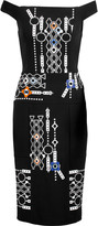Peter Pilotto Arcade embellished embroidered stretch-crepe and wool-twill dress
