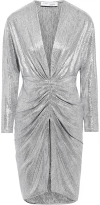 IRO Cilty Layered Metallic Stretch-jersey Mini Dress