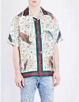 Gucci Bird-print silk shirt