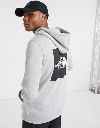 The North Face 2.0 Box hoodie in gray