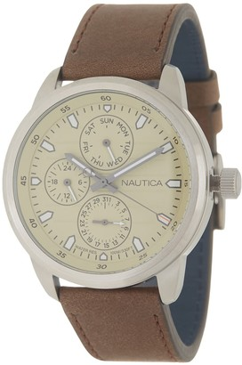 Nautica Men's Forbell Multifunction Water Resistant Watch, 44mm