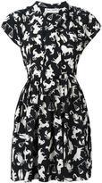 Saint Laurent babydoll lavaliere horoscope dress - women - Silk - 42