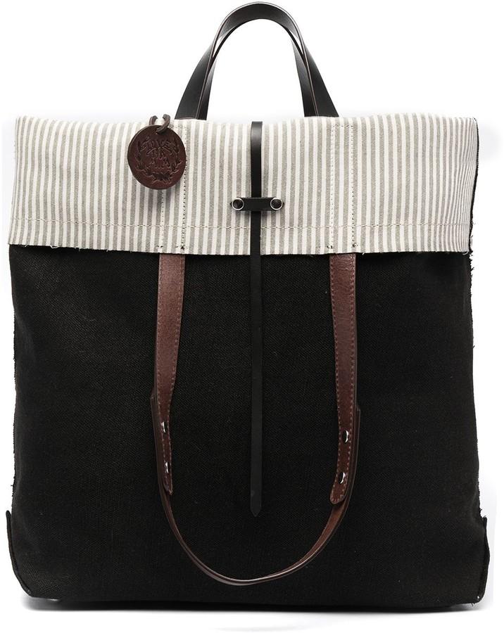 Thumbnail for your product : Maison Margiela Logo-Charm Folded Tote Bag