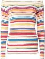 Dorothy Perkins Multi Stripe Bardot Jumper