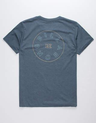 Billabong Roto Heather Navy Mens T-Shirt