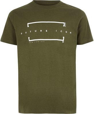 River Island Boys Khaki 'Future icon' T-shirt