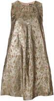 Twin-Set metallic floral dress