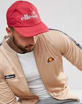 Ellesse Baseball Cap With Reflective Logo In Red