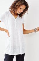 J. Jill Linen-Knit V-Neck Tunic