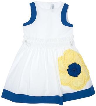 Simonetta Cotton Poplin Dress W/ Patch
