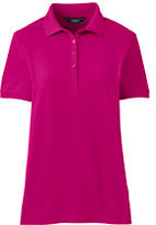 Lands' End Women's Tall Pique Polo Shirt-Brilliant Fuchsia
