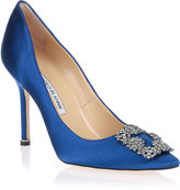 Hangisi satin pump Royal Blue