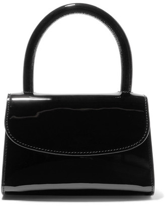 BY FAR Mini Patent-leather Tote - Black