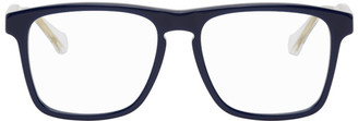 Gucci Blue and Transparent Square Glasses