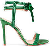Gianvito Rossi Satin And Lamé Sandals - Green