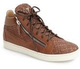Giuseppe Zanotti Men's Woven High Top Sneaker