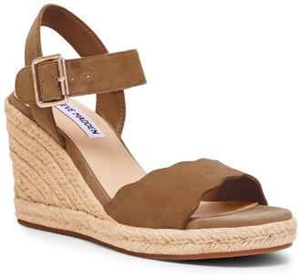 Steve Madden Women's Sandals CAMEL - Camel Mandii Suede Espadrille Wedge Platform Sandal - Women