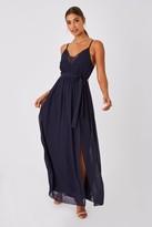 Girls On Film Gracious Navy Lace-Trim Cami Maxi Dress