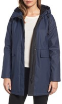 French Connection Women's Zip Front Hooded Slicker