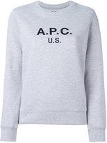 A.P.C. logo print sweatshirt - women - Cotton/Polyester - XS
