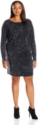 Junarose Women's Plus Size Mona Long Sleeve Fitted Dress