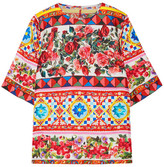 Dolce & Gabbana Printed Silk-charmeuse Top - IT40