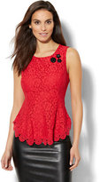 New York & Co. 7th Avenue Design Studio - Lace-Overlay Peplum Top